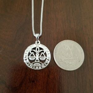 Libra Zodiac Sign Unisex Necklace